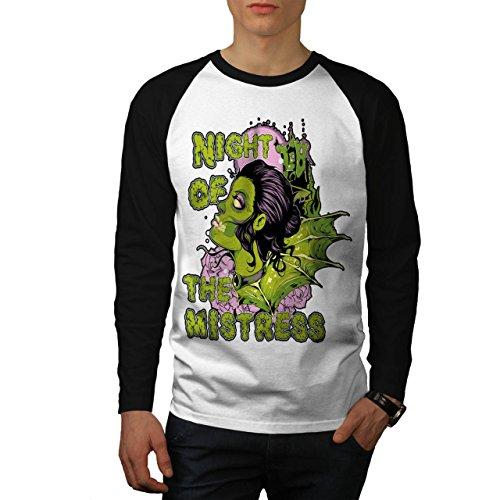 Nacht Von Herrin Zombie Horror USA Herren M Baseball lange Ärmel T-Shirt   (Herrin Zombie Kostüme)