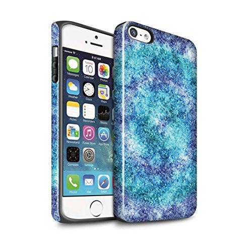 STUFF4 Glanz Harten Stoßfest Hülle / Case für Apple iPhone 7 / Quatrefoil/Klee Muster / Teal Mode Kollektion Bokeh/Funkeln/Fokus