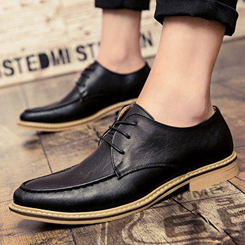 Printemps Hommes Loisirs Derby Business Hommes Chaussures à Lacet Mode pour Travail noir lacet