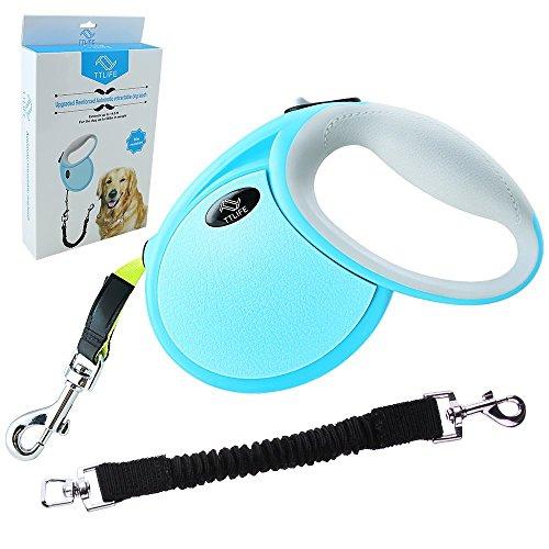 TTLIFE Robuster Roll-Leine Hundeleinen automatische Doppelleine/Bauchleine/ Retrieverleine / Trainingsleine /Übungsleine, 5M Länge, für Hunde max 30kg, perfekt für Hunde Joggen, Spazieren, Wandern und Radfahren (Roll-Hundeleine)