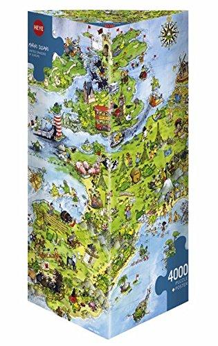 Preisvergleich Produktbild Heye 8854 - Dreieckspuzzles 4000 Teile United Dragons, Marino Degano