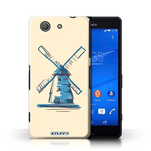 Kobalt® Imprimé Etui / Coque pour Sony Xperia Z3 Compact / Pyramides conception / Série Monuments Moulin/Hollande
