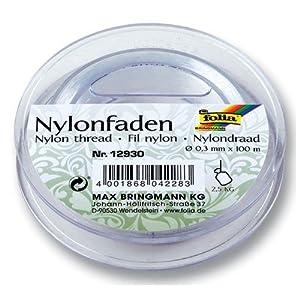 Folia Nylonfaden auf Spule, transparent, 0,30mmx100m, Tragkraft 2,5kg