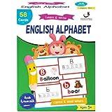 بطاقات تعليم الحروف وكتابة الحروف انجليزي Learn English Alphapet flash cards with Writing