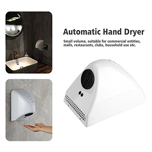 Acogedor Händetrockner, 1000W Automatischer elektrischer Händetrockner, No Touch Operation   Einfache und schnelle Installation   Mit Infrarotsensor