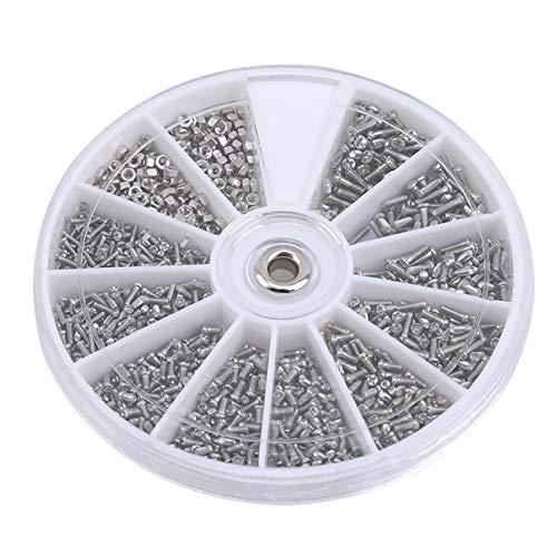 ZALING Multi Schraubendreher Metallschraube Uhr Brillen Uhr Reparierwerkzeug einstellen von Schraubenkästen (1000 stücke)