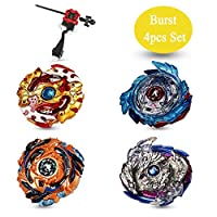 ‏‪Innoo Tech 2020 Beyblade Burst Battle Gyro Top Set of 4, 4D Fusion Model Metal Masters Acceleration Launcher, Speed Spinning Top, Great Kids Toy‬‏
