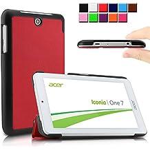 Infiland Acer Iconia ONE 7 B1-770 Funda Case-Ultra Delgada Tri-Fold Case Cover PU Cuero Cascara con Soporte para Acer Iconia One 7 B1-770 - Tablet 7'' IPS (7 pulgadas) Tablet-PC