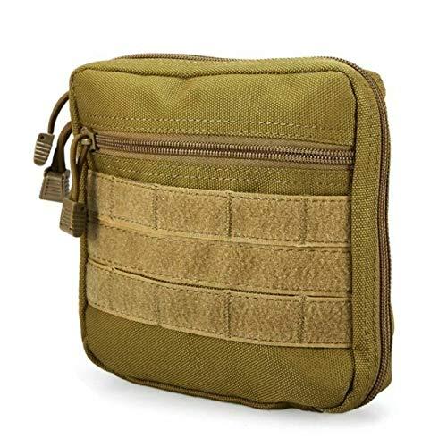 Hilfsmittels Kit (Qnlly Notfall-Überlebensmedizin-Aufbewahrungspaket-Hilfsmittel-Kit Leere medizinische Molle-Taschen-Reise,Khaki)