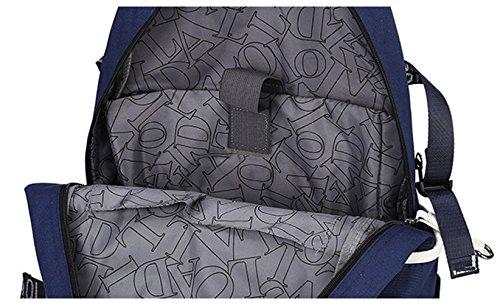 Tibes Zaino Borsello Donna Borsa Zaino Backpack Zaino Impermeabile Alta Capacità Nero