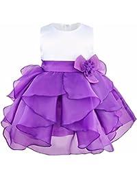 iEFiEL Vestido de Bautizo Princesa para Bebé Niña Recién Nacido (3-24 Meses) Varios Colores de Organza Vestido de Fiesta