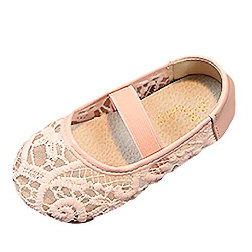 Sneakers Kinder Kind Mädchen Mesh Elastische Band Rutschfeste Prinzessin Gummiband Bestickte Mesh Schuhe Freizeitschuhe Sunday (26 (EU25), - Sneakers Bestickte