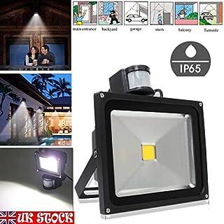 20W Security Lights with Motion Sensor LED PIR Outdoor Floodlight 2000LM Super Bright - Lighting Time Adjustable