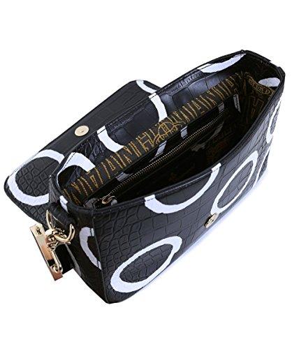 Vivienne Westwood Accessories Femmes sac à bandoulière circle slavon crocodile Cercle Noir Cercle Noir