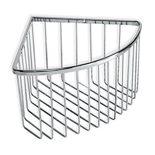TATAY 6606600 - Krom Cesta organizadora de ducha rinconera de acero inoxidable, soporta hasta 5 kg, 20 x 13.5 x 20 cm