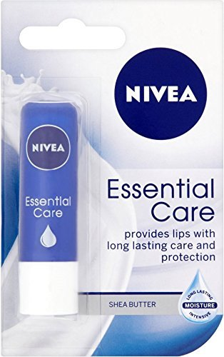 Nivea Essential Care Lip Balm 4.8g x 3 Packs by Nivea (Nivea Essential Lip Care)