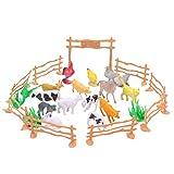 TOYMYTOY Animales realistas de la granja 15PCS figuran los juguetes de...