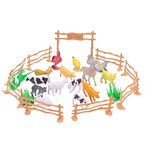 TOYMYTOY Animales realistas de la granja 15PCS figuran los juguetes de Zoo-Fun de los animales para los niños