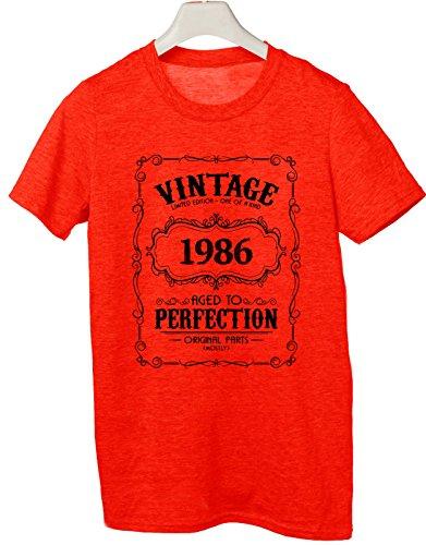 Tshirt 1987- idea regalo per compleanno - for birthday gift - Tutte le taglie by tshirteria Rosso
