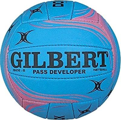 GILBERT Pass Developer Balón de Netball deportes antideslizante superficie Match formación pelota Tamaño 5
