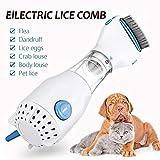 ShinyAmber Innovador Tratamiento de pulgas de Peine eléctrico con 3 filtros de Captura de Cabezal de pulgas y Huevos para Mascotas, Gatos, Perros y Otros Animales