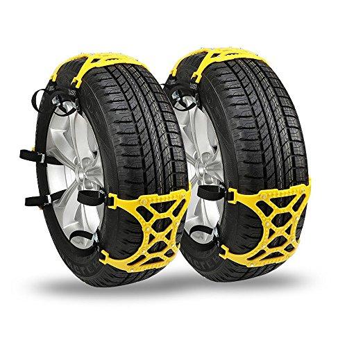 Chaînes anti-neige pour pneus Épaississement d'urgence des chaînes pour pneus anti-dérapants de sécurité - Ensemble de 6 voitures / VUS / camions universels