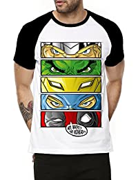 Fanideaz Cotton Superhero's Eyes Half Sleeve Raglan T Shirt For Men