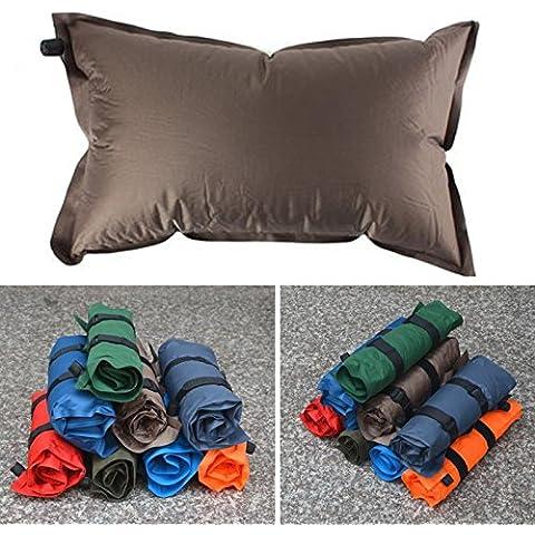 yalulu ligero automático cojín almohada de aire inflable portátil al aire libre senderismo mochila de viaje para Camping, Color al azar