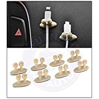 OnWheel FurnishMyAuto Car Cable Clip Charger Mounts Tie Holder Organizer (Beige) -8 Pieces