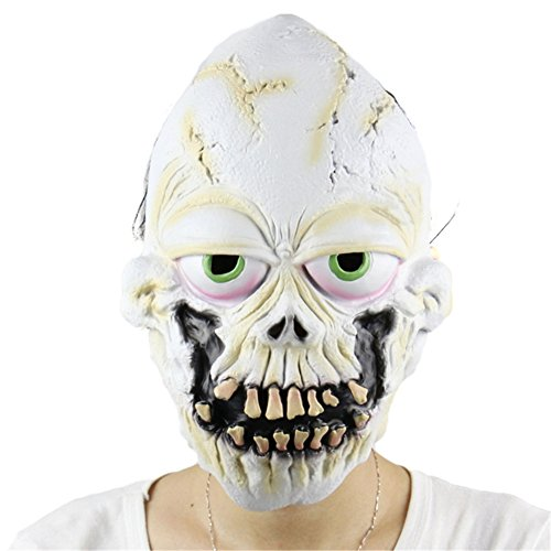 Kasit 1PC Halloween Horror Full Face Latex Mask Scary Halloween Party (Prop Horror)