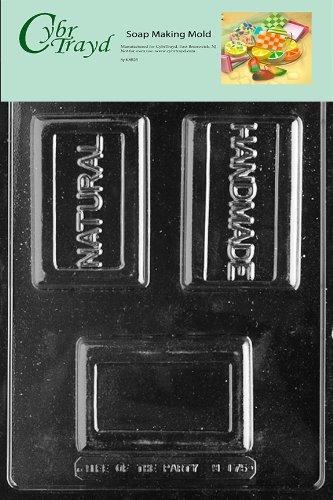 Handgefertigte Seife Bars (CybrTrayd Natur/Handgefertigt Bar Seife Form mit Exklusive urheberrechtlich geschützt Seife Formen Anweisungen)