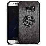 DeinDesign Samsung Galaxy S7 Silikon Hülle Case Schutzhülle Metall Look FC Bayern München Fanartikel Merchandise