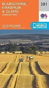 OS Explorer Map (381) Blairgowrie, Kirriemuir and Glamis (OS Explorer Paper Map) (OS Explorer Active Map)