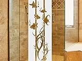 Graz Design 980191_50 Glasdekor Fensterfolie Duschkabine für Badezimmer Unterwasser Fische Algen (Größe=131x50cm)
