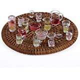 P S Retail Dollhouse Miniature Tableware Set Toy Multicolour (15pcs)