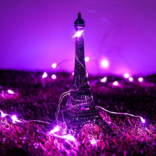 Crazyfire® Filo di luci in rame, lunghezza: 3 m, con 30 Lampadine Micro a LED, 3 x pila AA, per uso interno ed esterno, filo di luci decorativo, per giardino, albero di Natale, in occasione di matrimoni, festival e feste