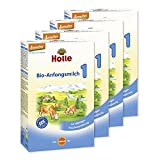 Holle Bio-Anfangsmilch 1, 4er Pack (4 x 400 g)
