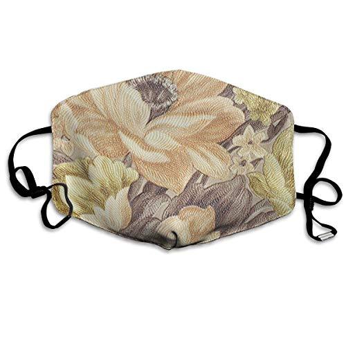 Vbnbvn Mundmaske,Wiederverwendbar Anti Staub Schutzhülle, Flowers Design Personality Fashion Polyester Dust Mask Novel Mask for Women Lovers -