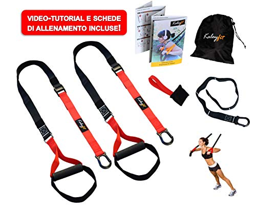 Kaleyfit Suspension Fit Trainer - Kit per Allenamento in Sospensione, Fitness, Crossfit, Strap...