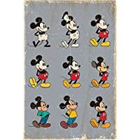 "Pyramid International""Evolution Mickey Mouse"" Maxi Poster, Multi-Colour, 61 x 91.5 x 1.3 cm"