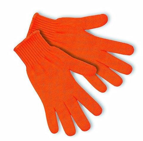 MCR 9617lm standard de sécurité Poids acrylique Jauge 7Gants manchette avec ourlet Blanc, Orange, L