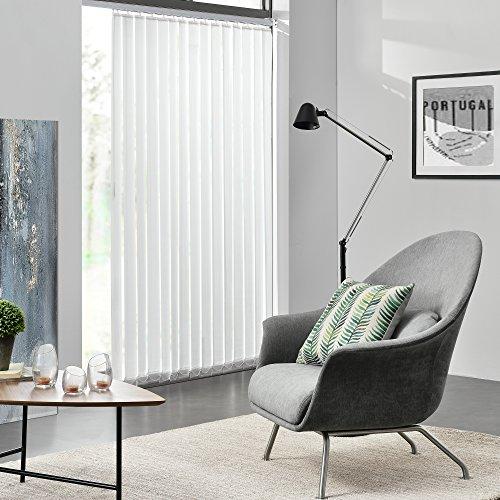 [neu.haus]® tenda a lamelle verticali - oscurante - 200x250 cm - bianco