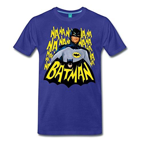 DC Comics Batman Retro Schauspieler Titelsong Männer Premium T-Shirt von Spreadshirt®, M, (West Adam Batman Kostümen)