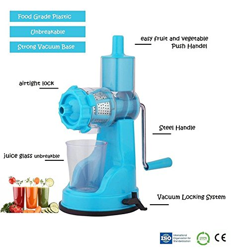 Gambit Fruit & Vegetable Hand Juicer Mixer Grinder with Suction Base, Sky Blue  available at amazon for Rs.350