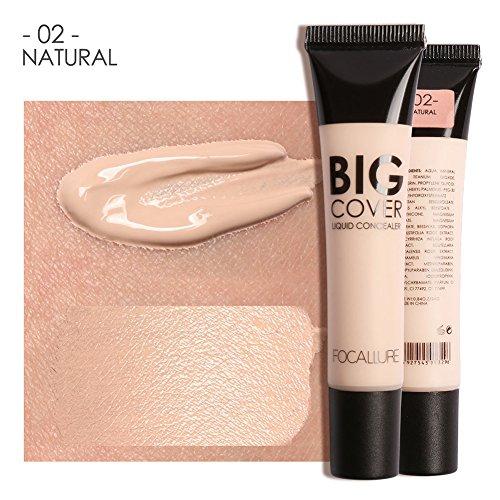 4 Types Focallure Nouveau Couvercle Parfait Visage Contour Concealer Liquide Maquillage Cosmétique(2#)