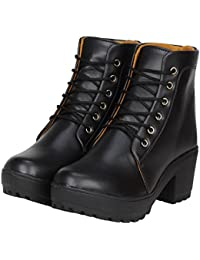 FASHIMO Women's Leather Ankle Boots