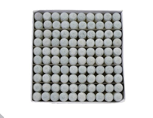 Scott Edward Quick Pool Snooker Billard Tipps, Push auf Spitze für Billard, Pool Cue Tipps-Stick Geschenk Box-Packed, 9 mm, 100 pcs, 2 Farben (grau/braun) optionale, grau -