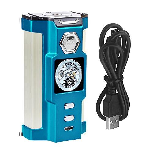 SIGELEI E Zigarette Akkuträger 230W TC Box Mod Riesiger Dampf Elektronischer Zigaretten-Zerstäuber Keine Batterie, E Liquid, Nikotinfrei(Blau) (Mod Dämpfe)