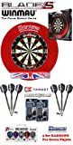 Blade 5 + H. Surround red + 2 Set Phil Taylor Darts + Abwurflinie + 5er Set Flights