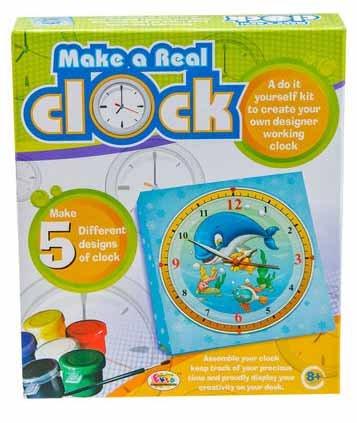 Paint make a real clock ekta toys game kids educational diy kit paint make a real clock ekta toys game kids educational diy kit school project solutioingenieria Gallery